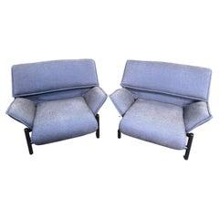 Vico Magistretti for Cassina Italian Modern 'Veranda' Lounge Chairs