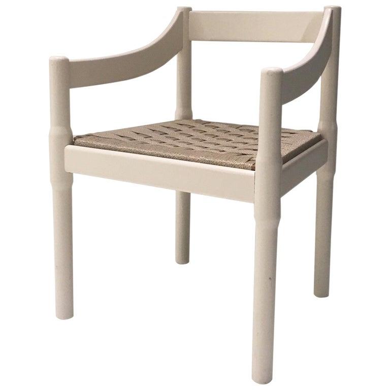 "Vico Magistretti for Cassina Vintage ""Carimate"" Chair, Italy, circa 1960s For Sale"