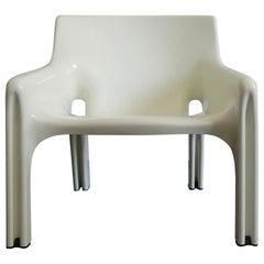 Vico Magistretti Italian Plastic Vicario Model Armchair for Artemide, 1970s