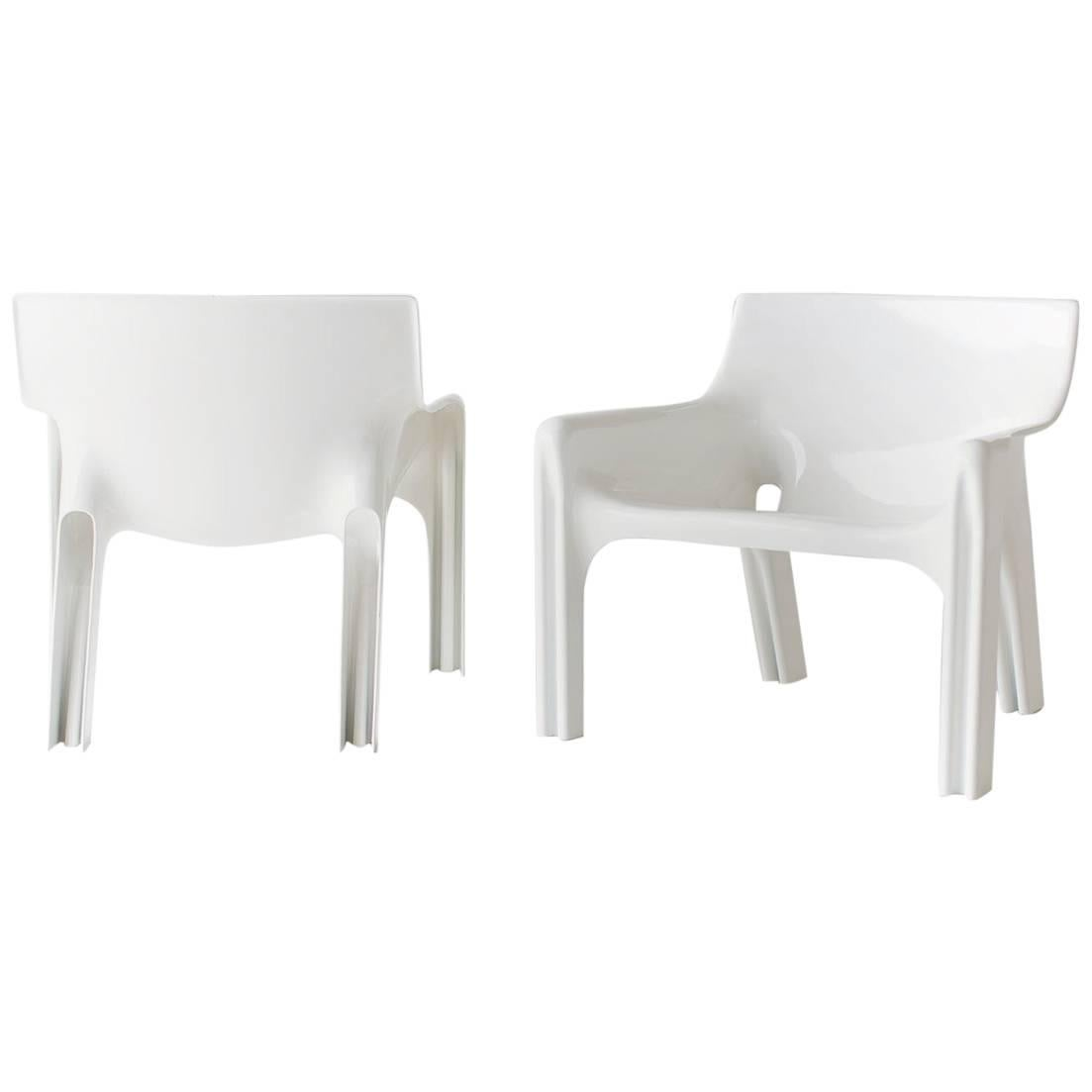 Vico Magistretti Lounge Chairs for Artemide