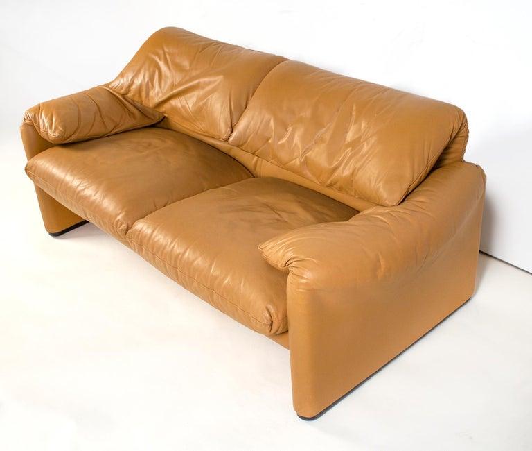 Italian Vico Magistretti Maralunga Sofas for Cassina in Leather