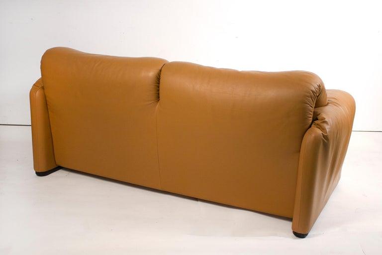20th Century Vico Magistretti Maralunga Sofas for Cassina in Leather