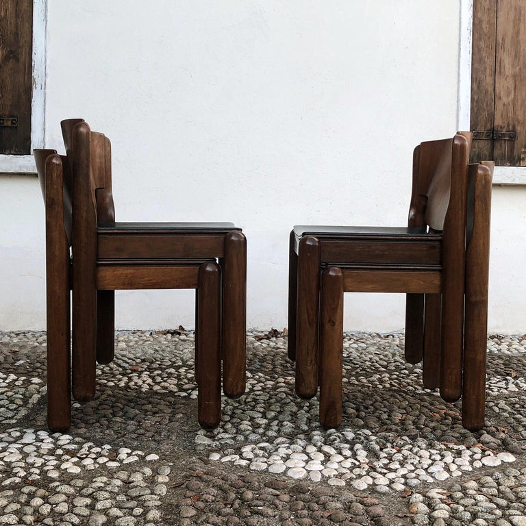 """4 Dining Room Chairs For Sale: Vico Magistretti Midcentury """"122"""" Dining Chairs For"""