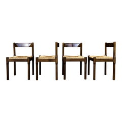 "Vico Magistretti Midcentury ""Carimate"" Dining Chair for Cassina, 1963, Set of 4"