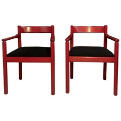Vico Magistretti Pair of Dining Room Chairs for Cassina