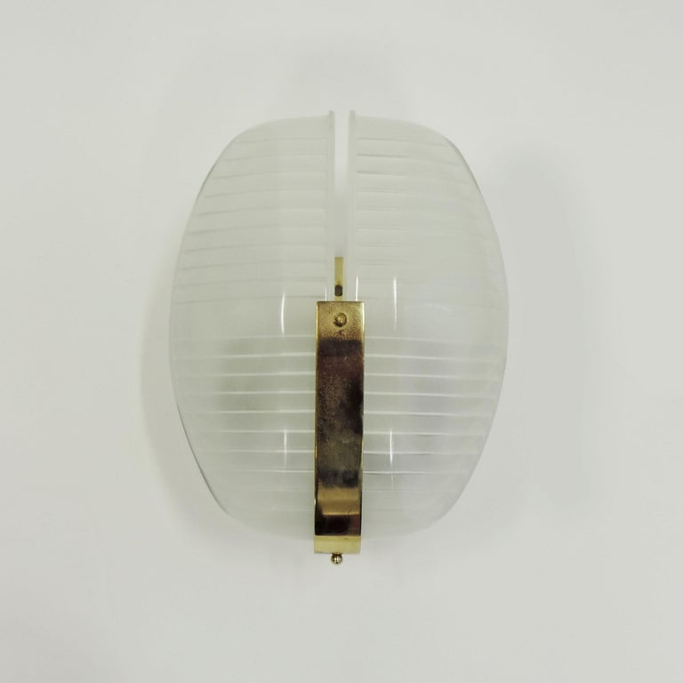 Mid-20th Century Vico Magistretti pair of Lambda wall lights for Artemide, Italy 1961 For Sale