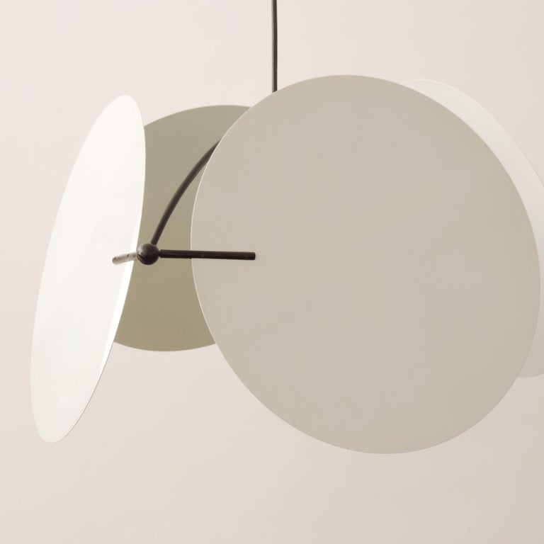 Modern Vico Magistretti Pair of 'Monet' Ceiling Lamps for Oluce, Italy, 1980s For Sale