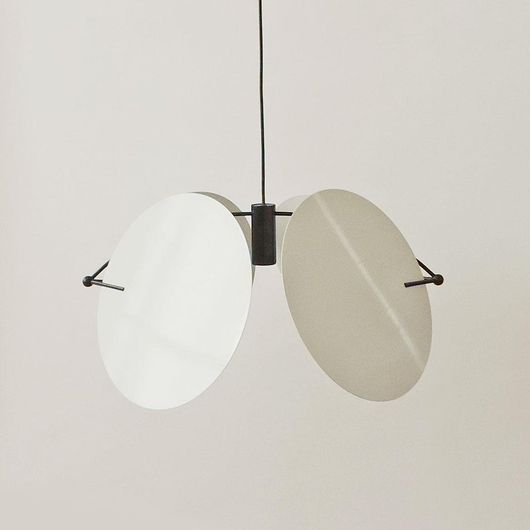 Lacquered Vico Magistretti Pair of 'Monet' Ceiling Lamps for Oluce, Italy, 1980s For Sale