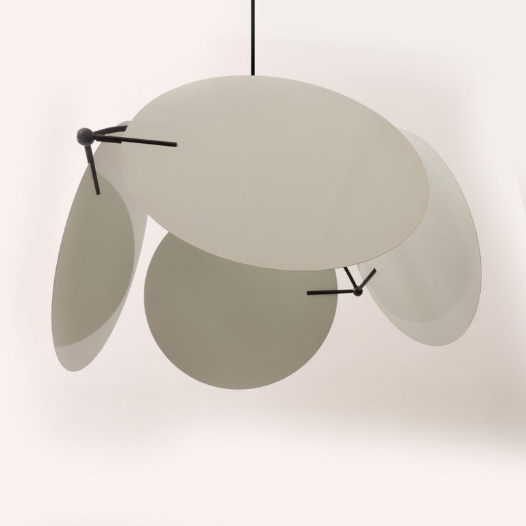 Vico Magistretti Pair of 'Monet' Ceiling Lamps for Oluce, Italy, 1980s In Good Condition For Sale In Milan, IT