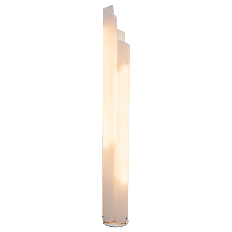 """Vico Magistretti Plexi-Glass Floorlamp Model """"Chimera"""" for Artemide, 1960s"""