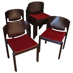 Vico Magistretti, Six Chairs, Model 122, Cassina, 1960s