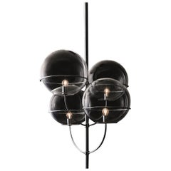 Vico Magistretti Suspension Lamp 'Lyndon' Chromium-Plated by Oluce