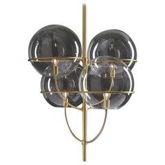 Vico Magistretti Suspension Lamp 'Lyndon' Satin Gold by Oluce