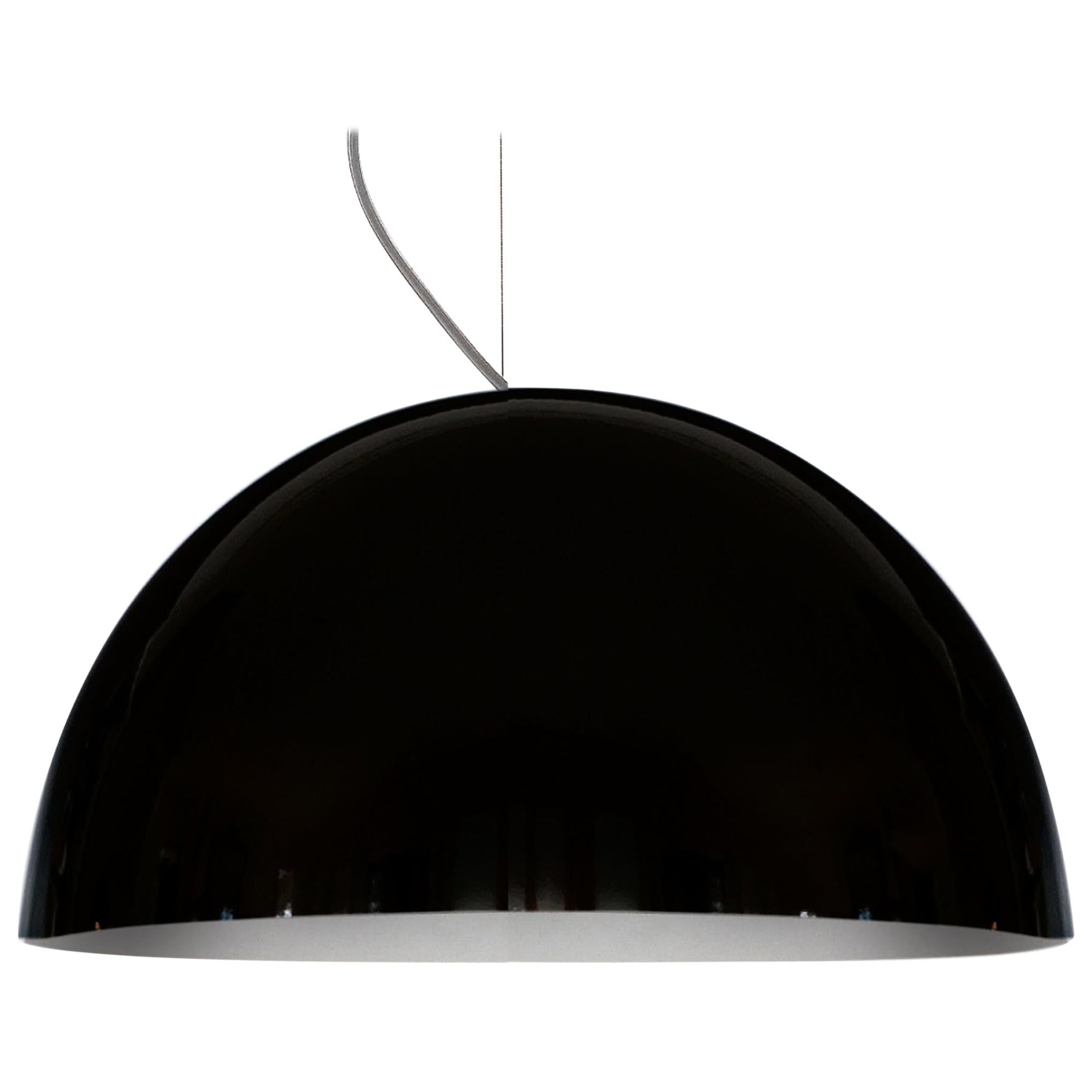 Vico Magistretti Suspension Lamp 'Sonora' 490 Black by Oluce
