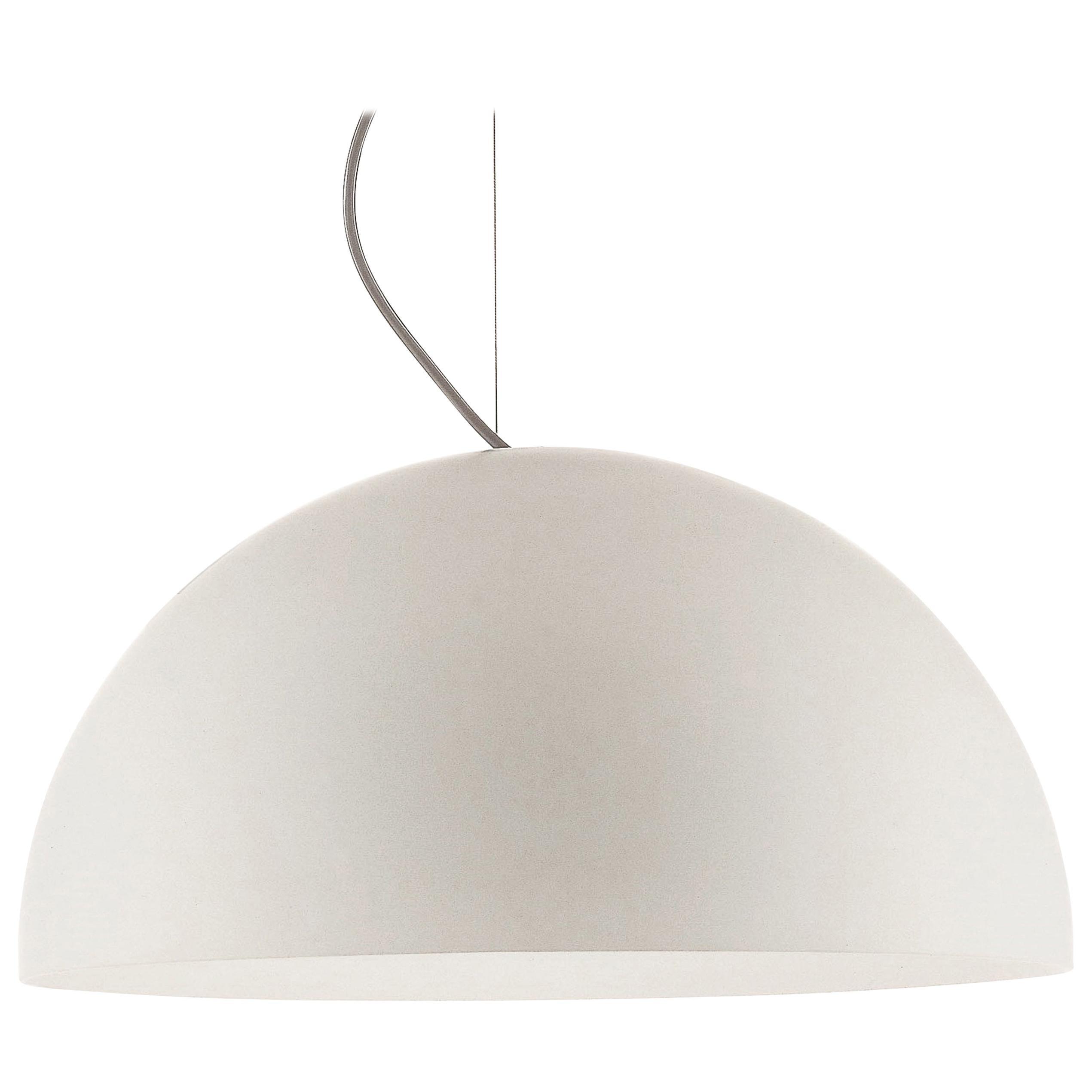 Vico Magistretti Suspension Lamp 'Sonora' 493 Opaline by Oluce