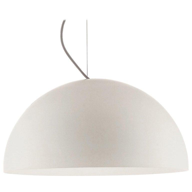 Vico Magistretti Suspension Lamp 'Sonora' 493 Opaline by Oluce For Sale
