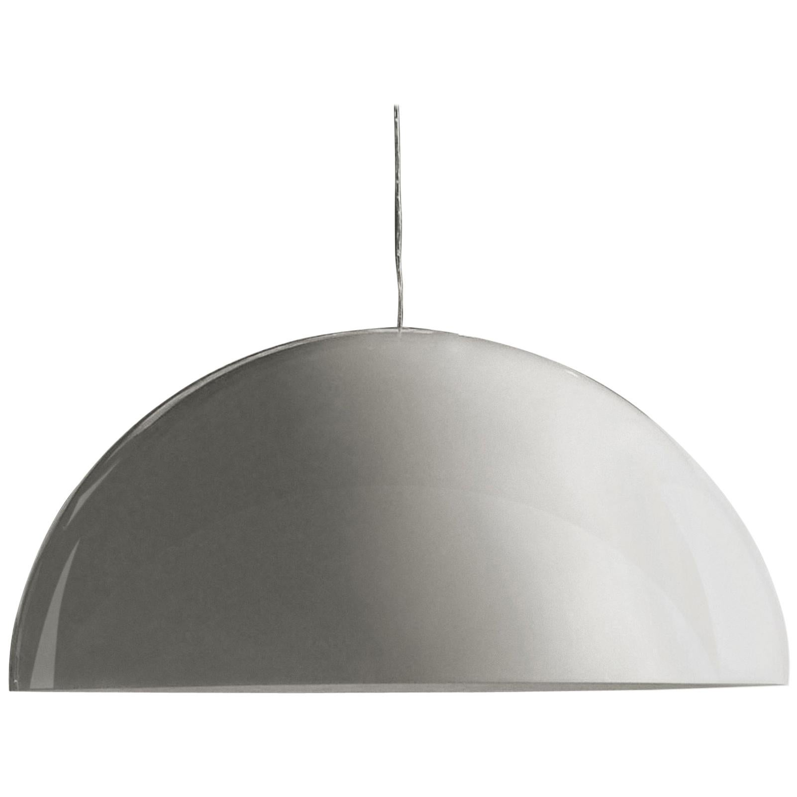 Vico Magistretti Suspension Lamp 'Sonora' 493 Painted White by Oluce