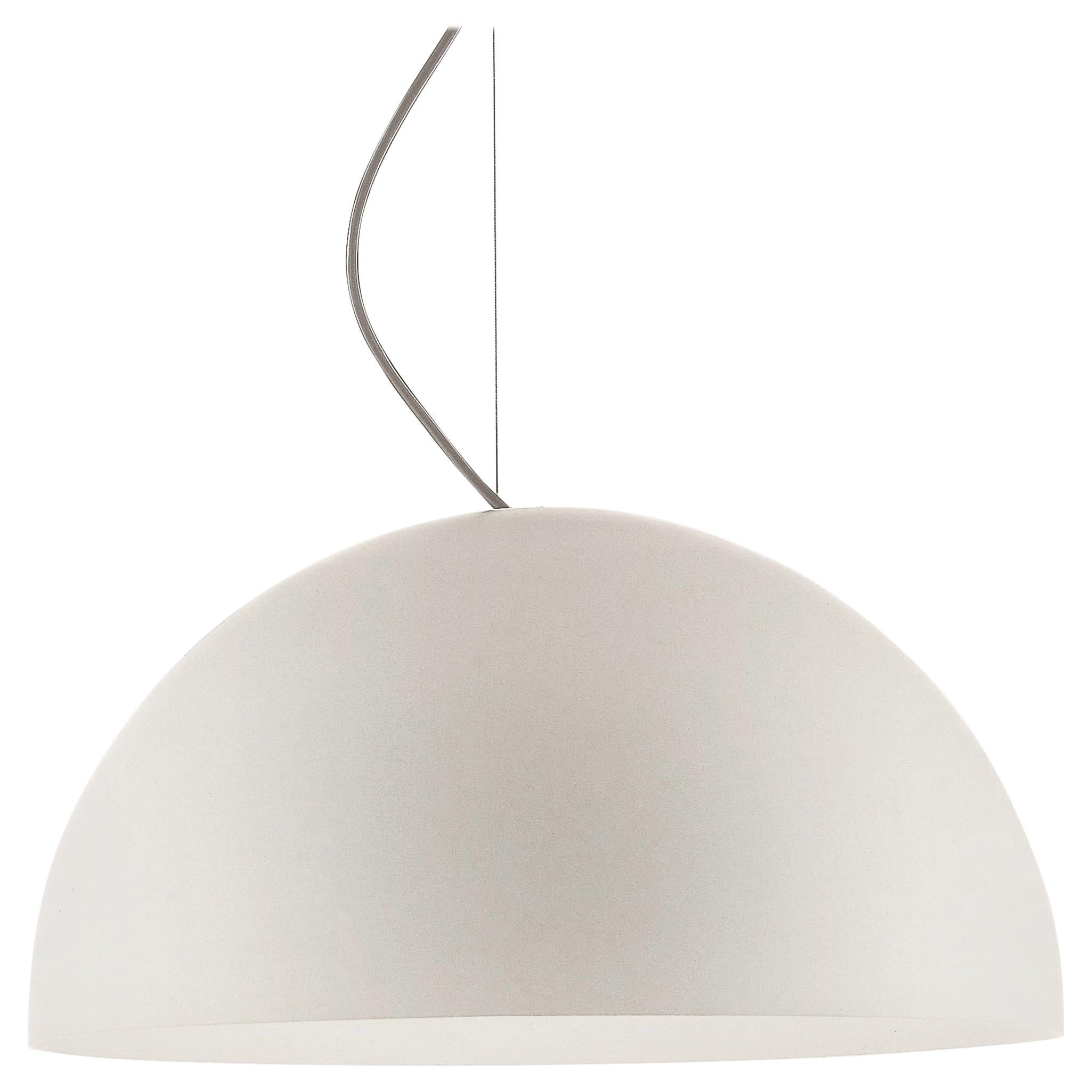 Vico Magistretti Suspension Lamp 'Sonora' Opaline Methacrylate by Oluce