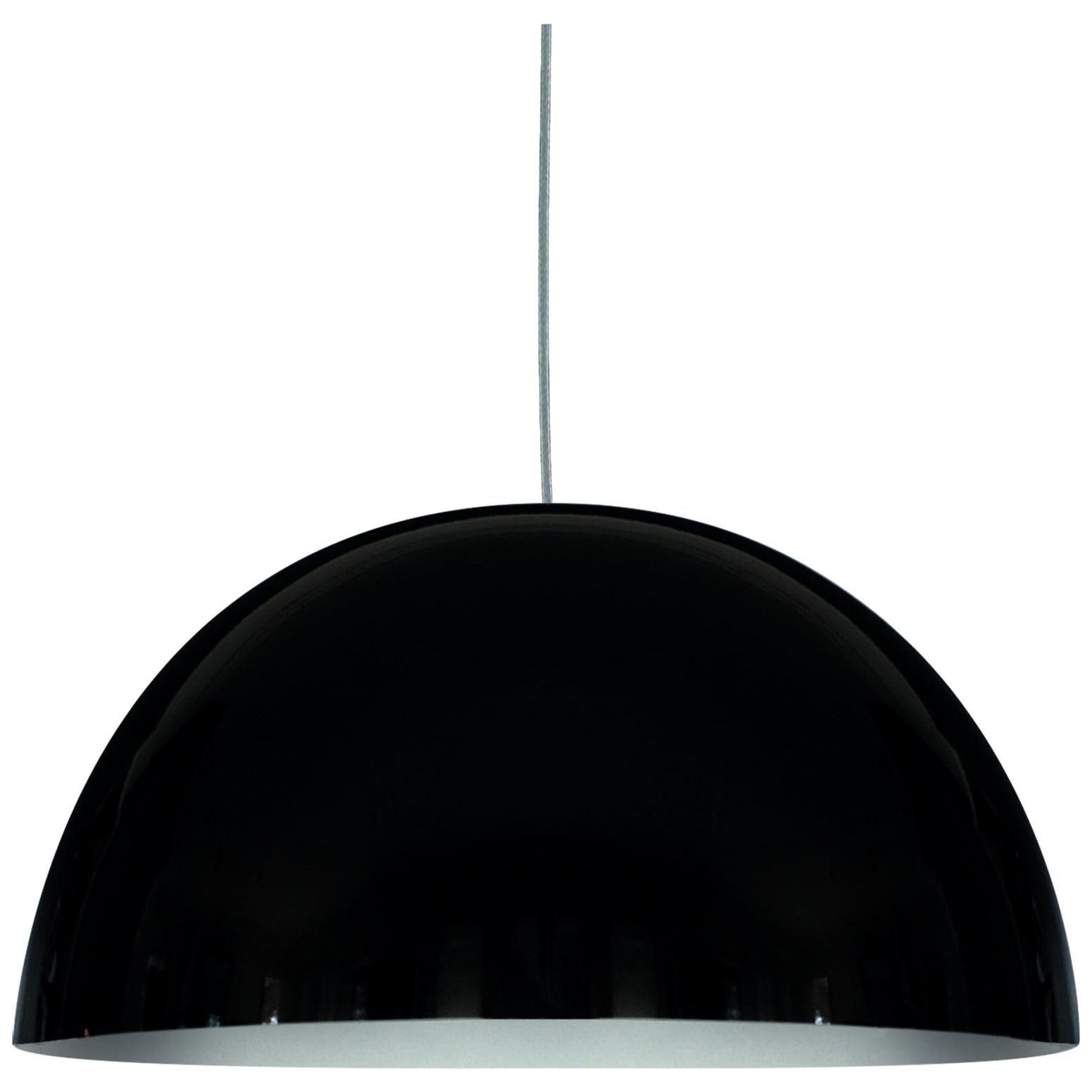 Vico Magistretti Suspension Lamps 'Sonora' Large Black by Oluce