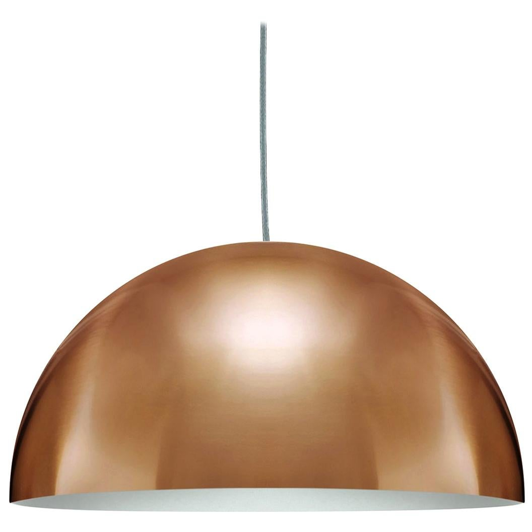 Vico Magistretti Suspension Lamps 'Sonora' Large Gold by Oluce