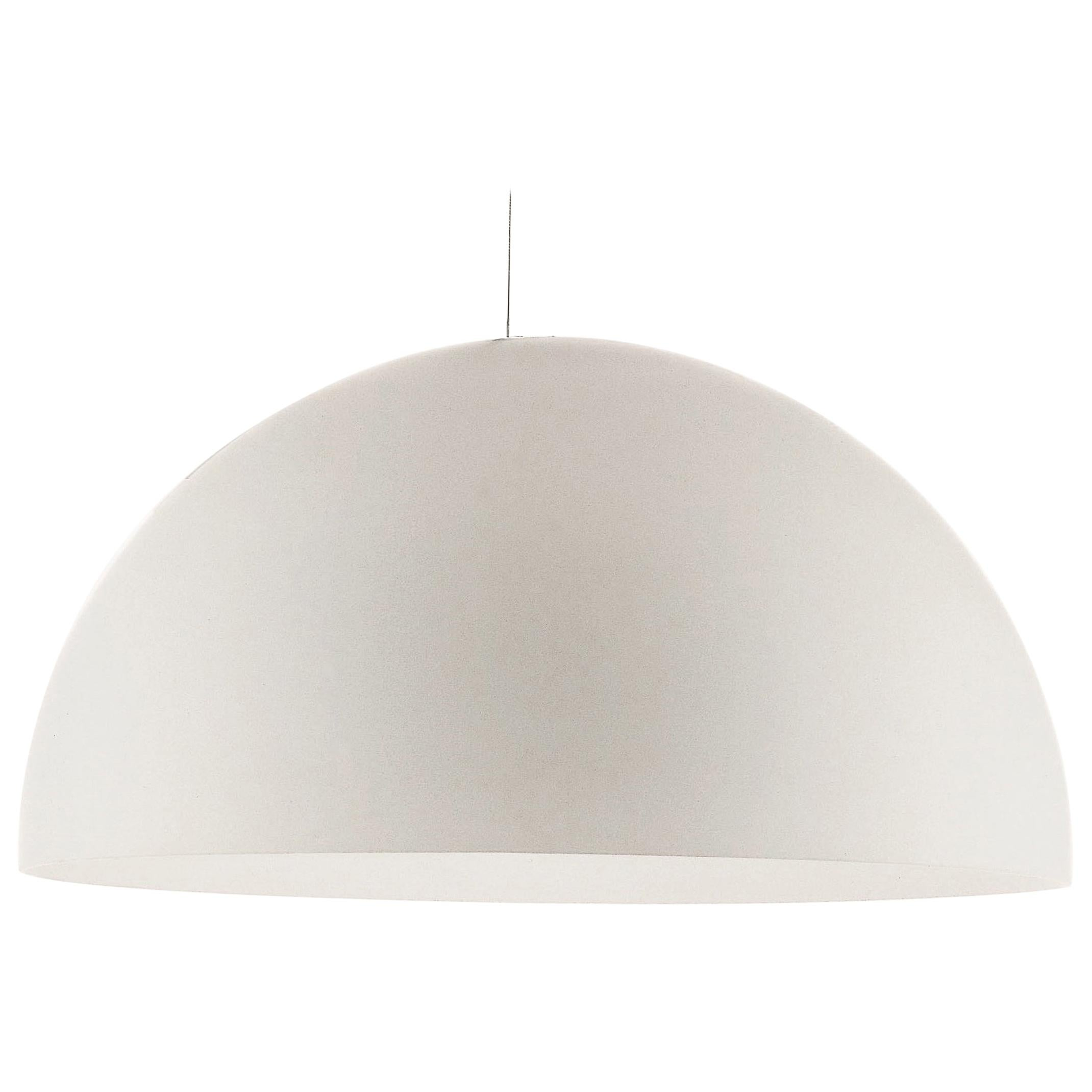 Vico Magistretti Suspension Lamps 'Sonora' Large White Opaline Glass by Oluce