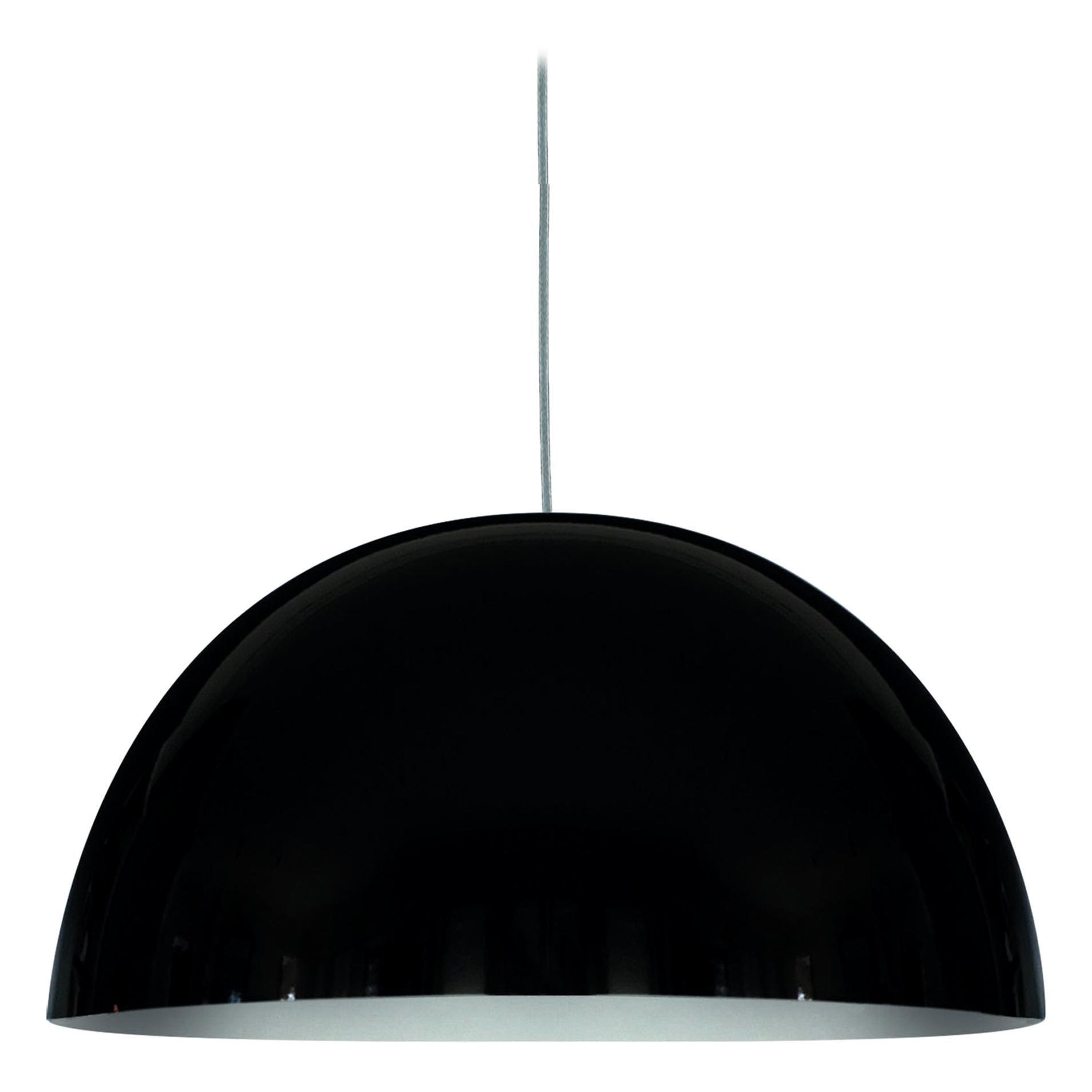 Vico Magistretti Suspension Lamps 'Sonora' Medium Black by Oluce