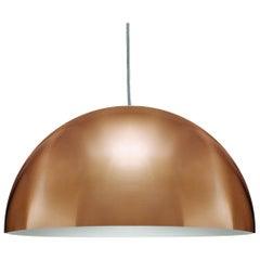 Vico Magistretti Suspension Lamps 'Sonora' Medium Gold by Oluce