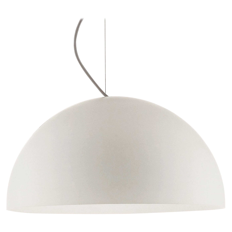 Vico Magistretti Suspension Lamps 'Sonora' Medium White Opaline Glass by Oluce