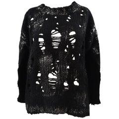 Vicolo black silver mohair sweater