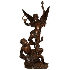 """Victoire Triomphante"" an Important Bronze Sculpture by Vital-Cornu"