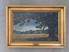 'Serene Landscape,' by Victor Borregaard, Oil on Canvas Painting