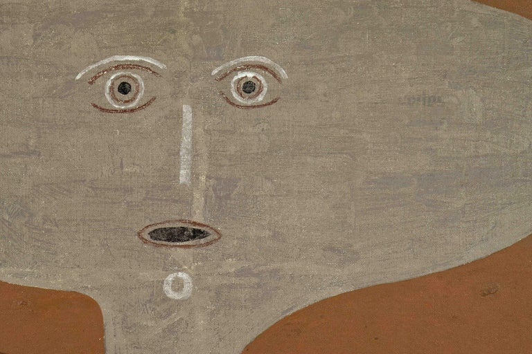 Accouplement d'Éléments by VICTOR BRAUNER - Surrealist oil painting - Brown Nude Painting by Victor Brauner