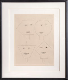 Code of Faces I, Signed Etching by Victor Brauner 1962
