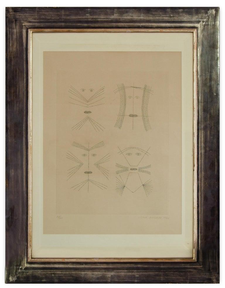 Codex d'un Visage - Original Etching by Victor Brauner - 1962 For Sale 1