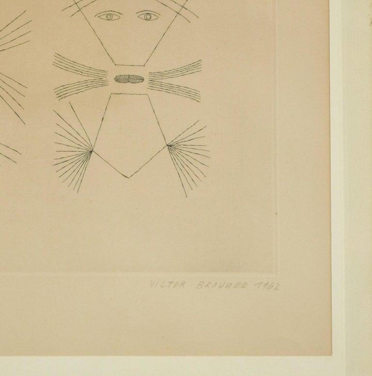 Codex d'un Visage - Original Etching by Victor Brauner - 1962 For Sale 4