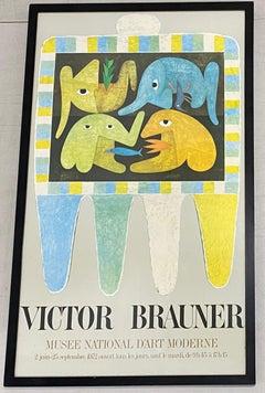 Victor Brauner Exhibition Poster Framed C.1972