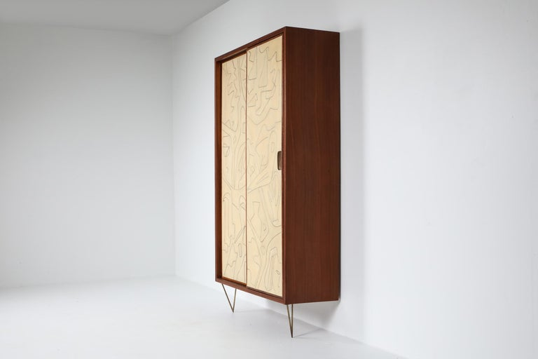 Mid-Century Modern Victor Cerrato One of a Kind Case Piece, 1950s, Italy For Sale