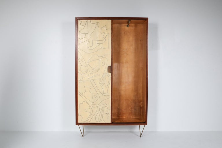 Victor Cerrato One of a Kind Case Piece, 1950s, Italy In Good Condition For Sale In Antwerp, BE