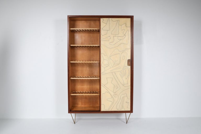 20th Century Victor Cerrato One of a Kind Case Piece, 1950s, Italy For Sale