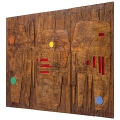 Victor Cerrato Unique Grand Wooden Wall Panel