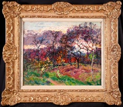 Autumn Colors - Post-Impressionist Oil, Trees in Landscape by Victor Charreton