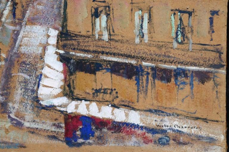 Paris - Boulevard de Clichy - Impressionist Oil, Cityscape by Victor Charreton For Sale 9