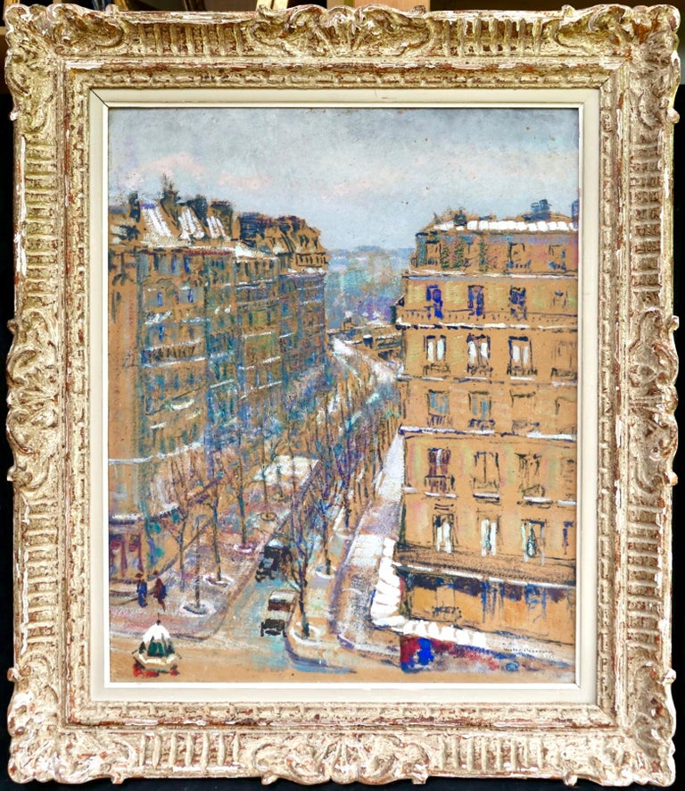 Paris - Boulevard de Clichy - Impressionist Oil, Cityscape by Victor Charreton For Sale 1