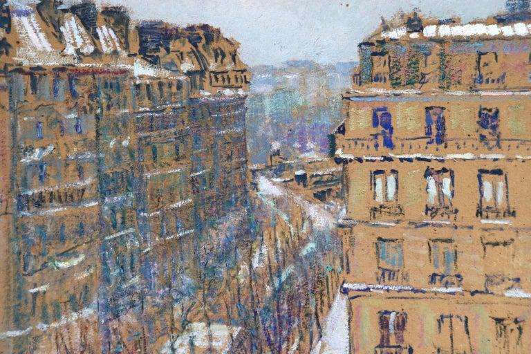 Paris - Boulevard de Clichy - Impressionist Oil, Cityscape by Victor Charreton For Sale 3
