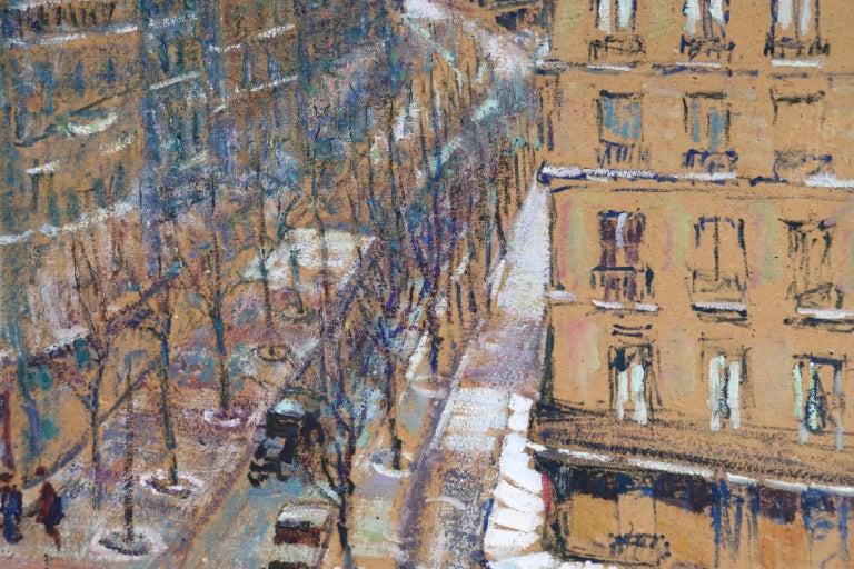Paris - Boulevard de Clichy - Impressionist Oil, Cityscape by Victor Charreton For Sale 4