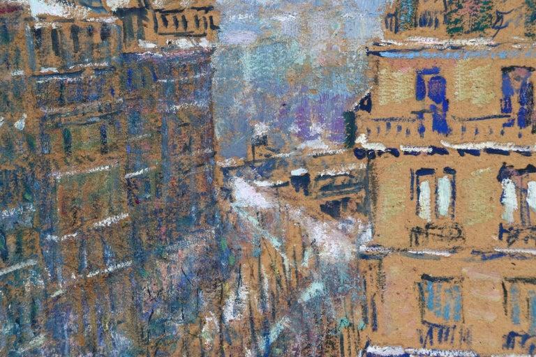 Paris - Boulevard de Clichy - Impressionist Oil, Cityscape by Victor Charreton For Sale 6