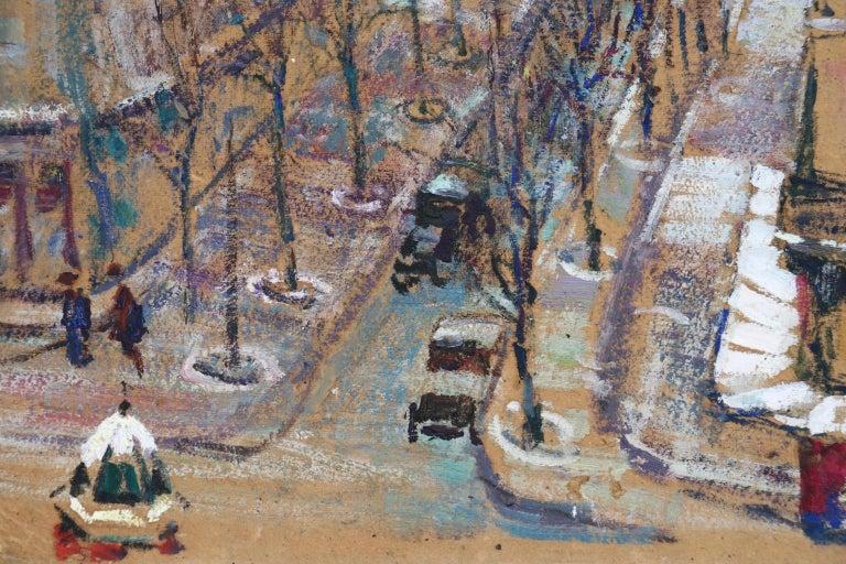 Paris - Boulevard de Clichy - Impressionist Oil, Cityscape by Victor Charreton For Sale 7
