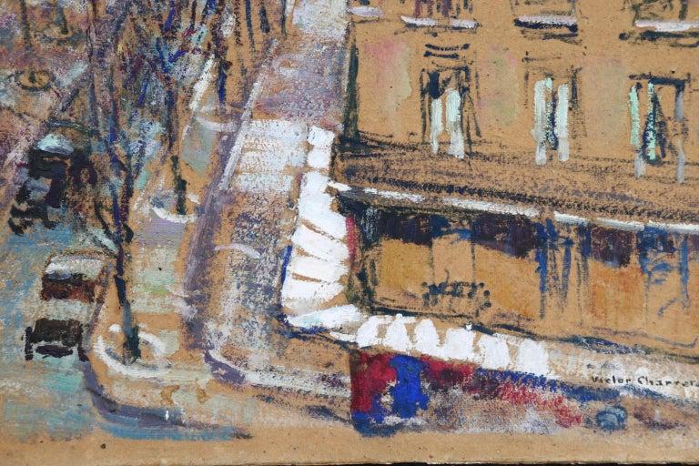 Paris - Boulevard de Clichy - Impressionist Oil, Cityscape by Victor Charreton For Sale 8