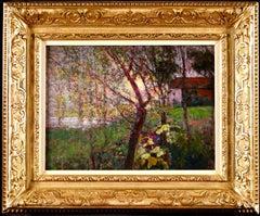Sunset - Post-Impressionist Oil, Coastal Landscape by Victor Charreton