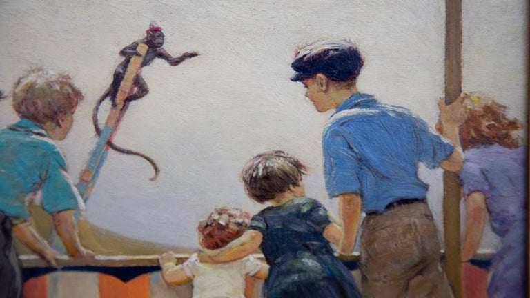 Monkey Circus - Academic Painting by Victor Coleman Anderson